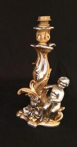 Capable Lume Piccolo Destro Con Angeli E Rose In Ceramica Foglia Oro E Argento Cristalli Bon Pour AntipyréTique Et Sucette De La Gorge