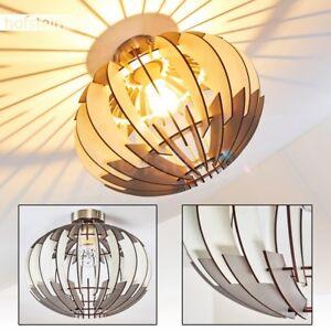 runde Retro Wohn Schlaf Zimmer Beleuchtung Flur Dielen Lampe Holz Decken Leuchte