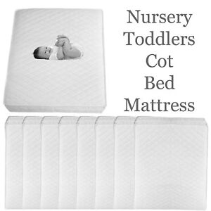 Crib Bed Breathable Quilted and Waterproof Foam Mattress Nursery Baby Breathable Cradle Pram Swing Mattress 89 X 38 X 4 cm