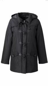 Black vent Taille 12 coupe Female Manteau femme pluie Jacket xPqZagOw