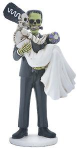 Frankenstein & Bride Loving Couple Halloween Wedding Cake Topper ...