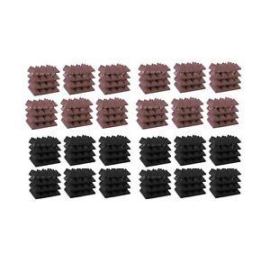 Acoustic-Foam-96pcs-Pro-Pack-Combo-Rosy-Beige-GREY-Pyramid-12X12X3-sound-tiles