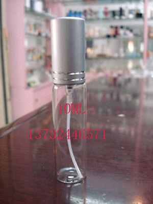 10pcs Refillable perfume atomizer silver aluminum sprayer glass bottle