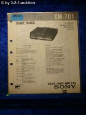 Sony Service Manual XM 701 Power Amplifier (#2941)