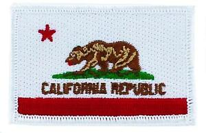 Patch-Embroidered-Flag-California-Thermoadhesive-USA-American-United-States