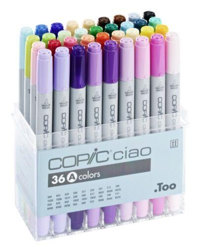 Copic Ciao marcador-color 36A Set-Twin CON PUNTA-RECARGABLE con tintas Copic