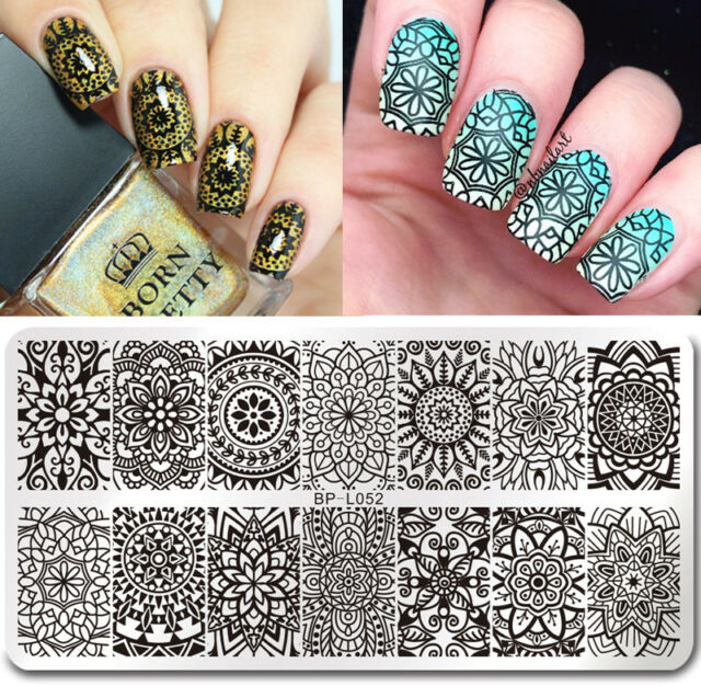 Born Pretty Nail Art Stamp Plate Manicure Image Template Floral ...