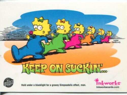 Simpsons Mania SimpsaDelic Blacklight Chase Card S3