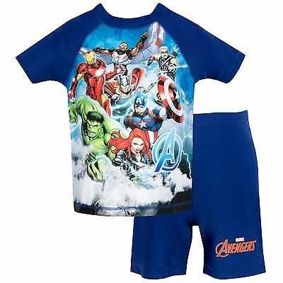 Marvel Boys Captain America Two Piece Swim Set