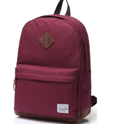 Canvas Travel Backpack Travel Laptop School Waterproof Rucksack Black Blue Red