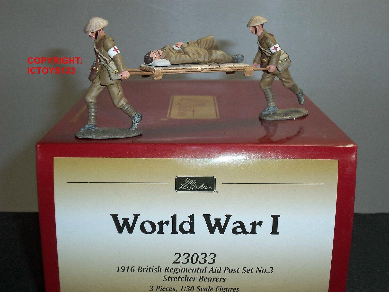 BRITAINS 23033 WORLD WAR ONE BRITISH REGIMENTAL AID POST STRETCHER BEARER SET