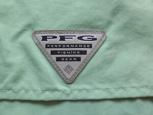 Columbia-PFG-Men-s-Green-Distant-Water-SS-Mesh-Vented-Shirt-XL-NEW