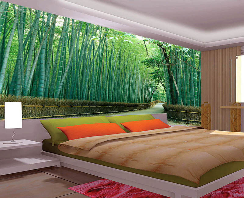 Jumping Green Woods 3D Full Wall Mural Photo Wallpaper Printing Home Kids Decor