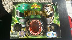 Mighty Morphin Power Rangers Legacy Morpher Green White Ranger Edition DIECAST!