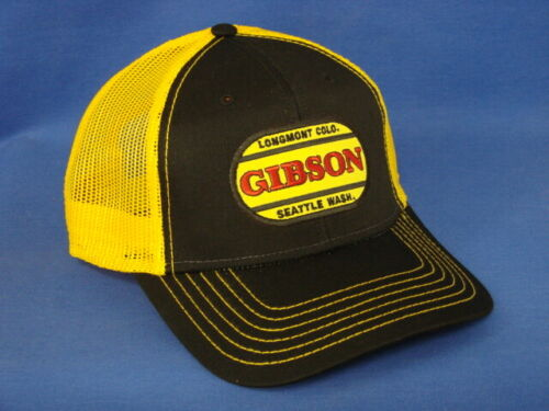 Snapback Gibson Tractor Hat Black//Gold Mesh