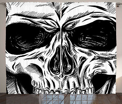 Skull Tapestry Gothic Sketch Evil Face Print Wall Hanging Decor 60Wx40L Inches