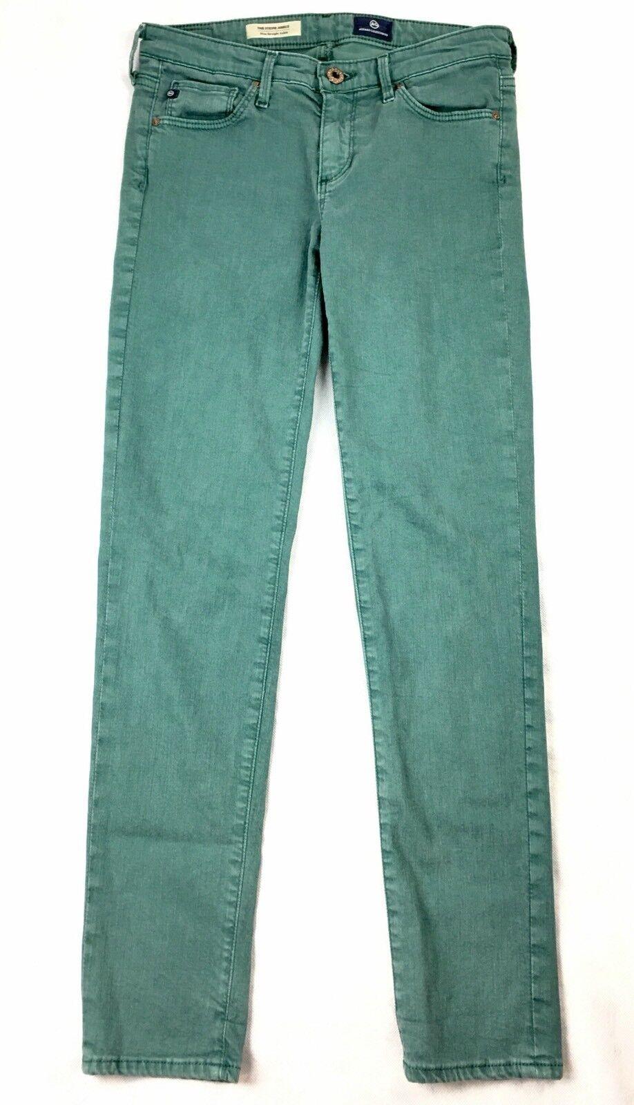 AG Adriano goldschmeid Women Skinny Jeans Stevie Ankle Slim Straight Sz 25 Green