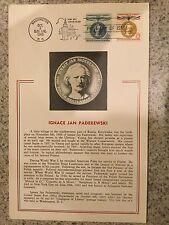 POSTCARD US IGNACE JAN PADEREWSKI CHAMPION OF LIBERTY FIRST DAY ISSUE 1960