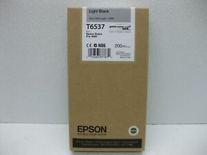 Epson-Ink-Light-Black-T6537-Genuine-New-220ML-SHIPS-OVERBOXED-Date-2016