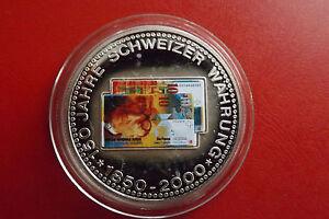 Schweiz Münzemedaille Ca40mm 150 Jahre Schweizer Währung