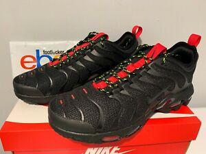 wholesale dealer 3fe73 e67af Image is loading Nike-Air-Max-Plus-Ultra-Tuned-TN-Black-