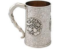 Chinese Export Silver Mug Antique Circa 1850
