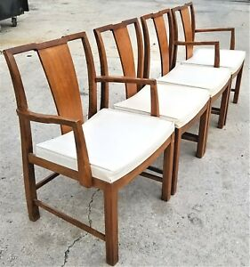 Image Is Loading Set Of 4 Vtg Baker Furniture Mid Century