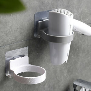 Bathroom-Wall-Mount-Electric-Hair-Dryer-Holder-Storage-Rack-Organizer-DEN