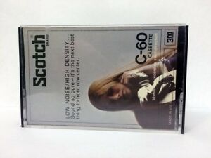 SCOTCH-LOW-NOISE-HIGH-DENSITY-C-60-RARE-BLANK-AUDIO-CASSETTE-TAPE-NEW-1973-YEAR