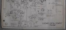 LOEWE OPTA Typ 710 GW Tempo Schaltplan