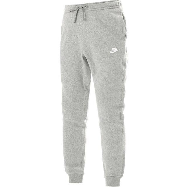 d95827fceea Nike Mens Jogger Club Fleece Sweatpants Dark Grey Heather white All Sizes XL