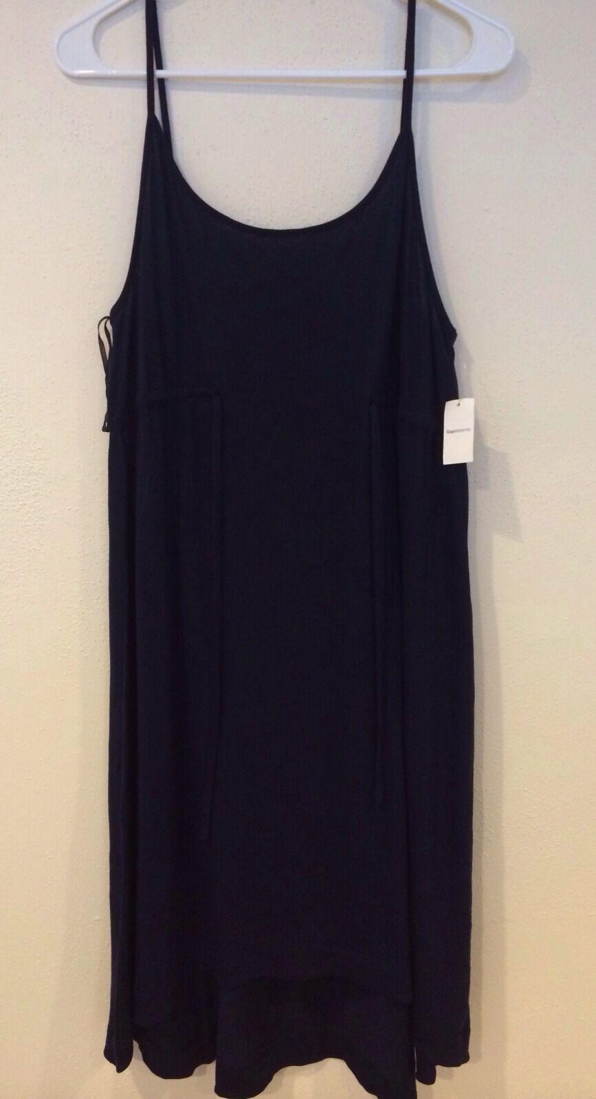 NWT Gap maternity navy spaghetti strap dress  size L