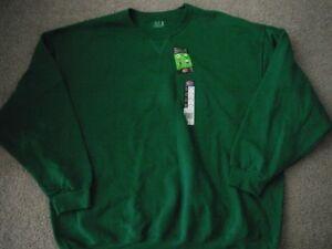 NEW-mens-womens-FRUIT-LOOM-SWEATSHIRT-shirt-3X-green