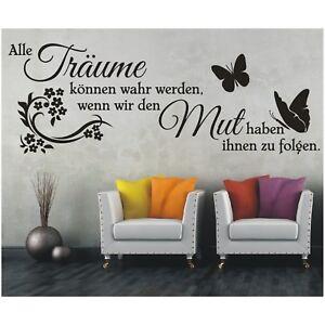 Wandtattoo-Spruch-Traeume-wahr-Mut-folgen-Wandsticker-Wandaufkleber-Sticker-4