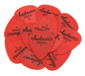 (12) Genuine Jackson ® Guitar/bass Picks Delrin Rouge Mince .50 Mm Jck-50t-afficher Le Titre D'origine Emballage De Marque NomméE