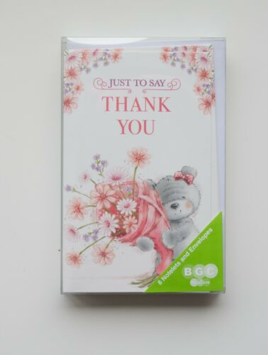 THANK YOU  NOTELETS 8 CARDS AND ENVELOPES  4 PACKS TO CHOOSE FROM.
