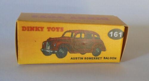 Repro box Dinky nº 161 Austin Somerset Saloon negro y rojo oscuro