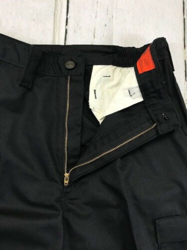 by REED New 65//35- Work CARGO Pants Black Industrial Uniform  w// FLEX Waist