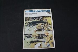 Age Print Militärtechnik Nr 2 From 1978 Collector Old Vintage Booklet