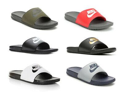 Nike Benassi JDI Black Gold White Mens