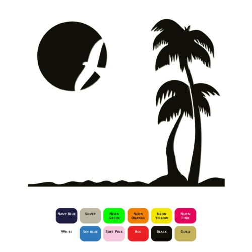 Dream Beach Iron On T-Shirt Clothes Heat Transfer Vinyl Sticker HTV 12 Colours