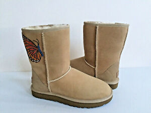 3dee7f002c5 Details about UGG CLASSIC SHORT II SAND CUSTOMIZED CYRSTALS BUTTERFLY BOOT  US 7 / EU 38 / UK 5