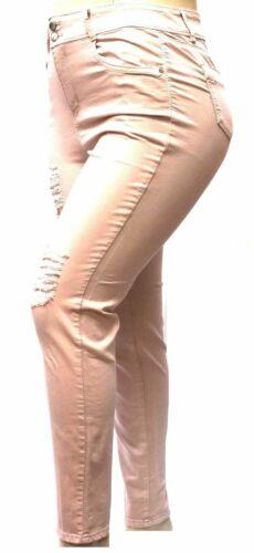 Womens Super Plus Size BLUE Skinny Denim Distressed Jeans pants SIZE 14 TO 34BIG