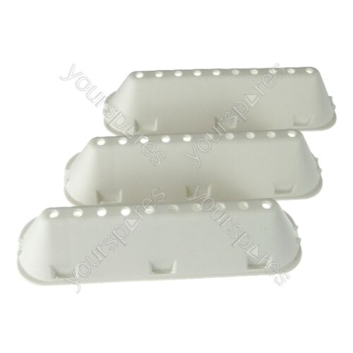 3 X INDESIT wib111uk LAVATRICE Drum Paddle Lifter 10 tipo di foro