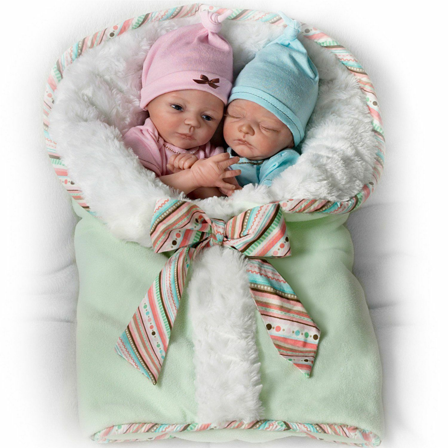 Ashton Drake Madison And Mason So Truly Real Twin Baby Doll Set By women Lee
