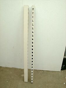 2x-SAULE-REGALSAULE-REGALSTANDER-160-cm-8x3-TEGOMETALL-TEGO-REGALE-WEISS-WEIss