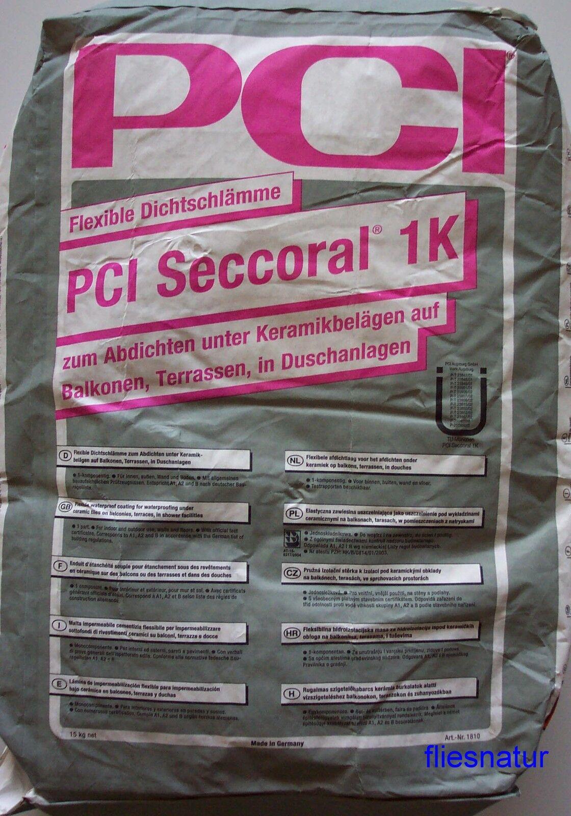 PCI Seccoral 1K 15kg Abdichtung Dichtschlämme Balkon Terrasse Dusche Dichtfolie