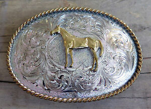 f1d83b63d Image is loading Quarter-Horse-Cowboy-Cowgirl-Western-Montana-Silversmiths- Vintage-
