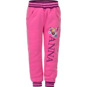 Abstand wählen exquisiter Stil Großhandelsverkauf Details zu Neu Mädchen Sporthose Hose Jogginghose Frozen pink grau blau 104  110 116 128 #43