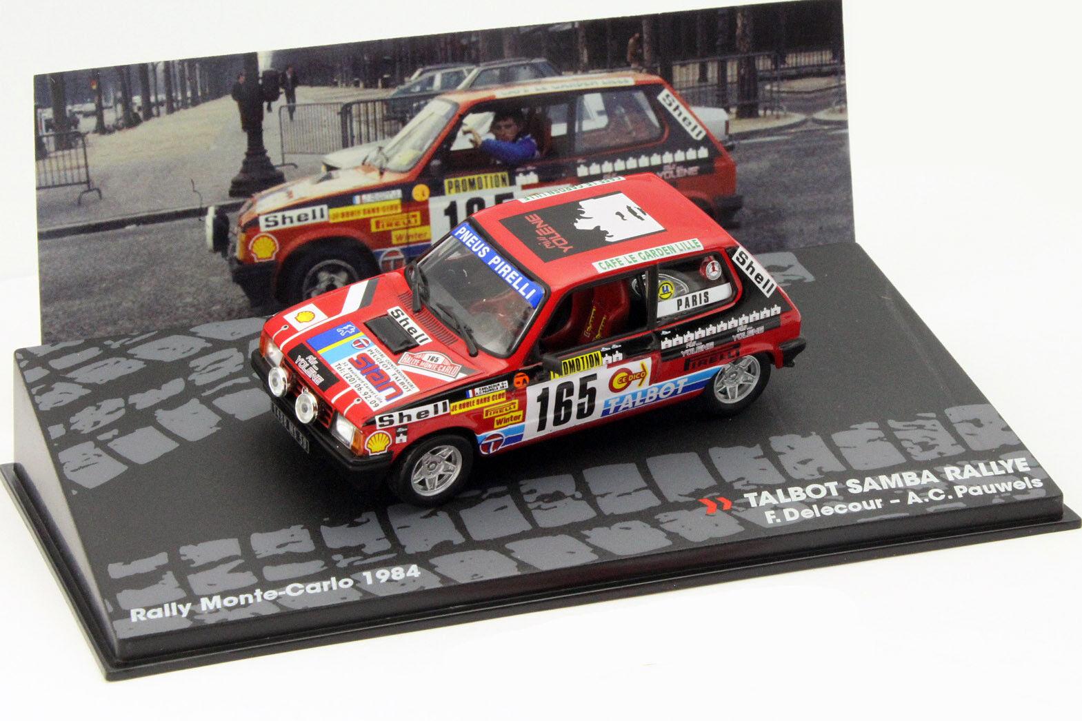 Talbot Samba Rally Rallye Monte Carlo 1984 Delecour, Pauwels 1 43 Altaya